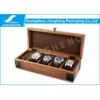 Wholesale Rectangle Shape Watch Packaging Boxes MDF Wooden Material With Pillow from china suppliers
