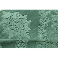 Wholesale 75D Yarnd Green Embossed Flannel Fleece Fabric OEM / ODM Available from china suppliers
