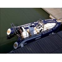 Wholesale Orca Hypalon Tender Small Rib Boat Dark Blue Chemical Resistance With 316 SS Light Arch from china suppliers