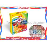 Wholesale Eco - Friendly Sugarless Sour Fruit Candy With Mix Flavor Strawberry , Blue Berrry from china suppliers