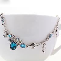 Wholesale Ref No.: 205029 Blue Flower Rain birthstone pearl bracelet costume jewellery necklaces Elements Swarovski jewelry earrin from china suppliers