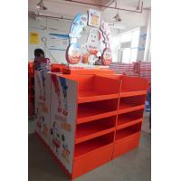 Wholesale Foldable 4-sided Cardboard chocolate pallet display with an eye-catching topheader , Kinder Display stand from china suppliers