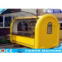 Wholesale Yellow Fiberglass Mobile Hot Dog Cart , Hamburger Cart 110V ~ 220V from china suppliers