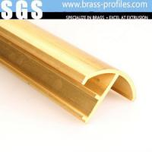 Quality Copper Extruding Profile Antique Brass Profiles Decorative Brass Profiles for sale