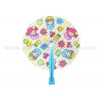 Quality Cartoon Style Printed Accordion Paper Folding Fan For Promotion , Gifts , Souvenir Cute for sale