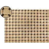 A piece of metallic fabric cloth with 8mm flat octagon shape and dull polished brass color.