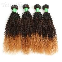 Wholesale Kinky Curly 100g 7A Brazilian Virgin Hair Three Tone Dyeable from china suppliers