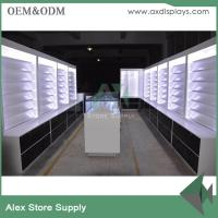 Buy cheap Wood showcase retail mobile phone shop interior design cabinet display from wholesalers