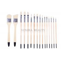 China Artist Professional Body Paint Brushes Set With Carrying Case 16Pcs Watercolor Oil Acrylic Painting Brushes on sale