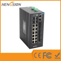 Wholesale 11Mpps Industrial Managed Ethernet Switch 14 Megabit port and 4 megabit FX & 4 Gigabit fiber port from china suppliers