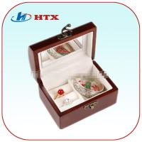 Wholesale High Quality Wood Box for Jewelry with Mirror and Velvet from china suppliers