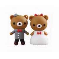 Wholesale cartoon bear pendrive bride groom pen drive 4gb usb flash drive  memory stick wedding gift from china suppliers