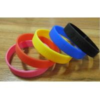 Wholesale Fashion Custom Silicone Bracelet Excellent Debossed For Business Promotion from china suppliers