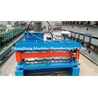Quality 0.18mm - 0.2mm Thickness Corrugated Sheet Forming Machine With Hydraulic Cutting Device for sale