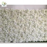 Wholesale UVG DIY party background in silk rose and hydrangea flower wall backdrops for weddings from china suppliers