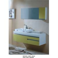Quality single Ceramic basin white floating bathroom vanities Stainless steel soft hinges for sale