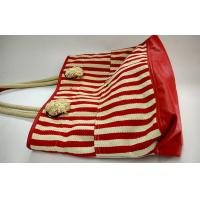 Wholesale Red white striped cotton reusable shopping bags , Trendy Womens Shopping Bag from china suppliers