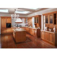 Island Birch Wood Venner Kitchen Cabinets With Quartz Countertops Waterproof