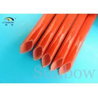 Wholesale GLASS FIBRE SILICONE WIRE SLEEVING SILICONE FIBERGLASS SLEEVING from china suppliers
