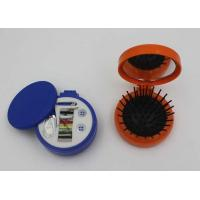 Wholesale Round Plastic ABS + Rubber + Nylon Mini Sewing Kit / Compact Hair Brush With Mirror from china suppliers