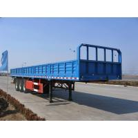 Wholesale 40 feet-3 Axles-25T-Rail Side Flat Bed container semi trailer from china suppliers