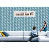 Wholesale 3D Effect Geometric Contemporary Wall Covering , 0.53*10M / Roll , Non-Pasted from china suppliers