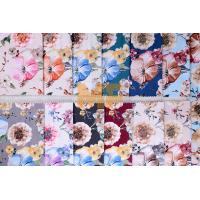 Wholesale Soft Velvet 100% Polyester Upholstery Fabric Waterproof Flower Printing 143 cm from china suppliers