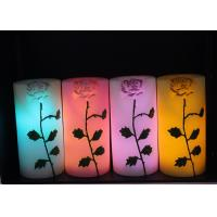 Wholesale Rose Carved Wedding Led Candles Battery Operated With Color Changing from china suppliers