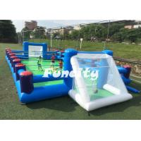 Wholesale 0.55MM PVC Tarpaulin Inflatable Human Foosball Court , Inflatable Soccer Field from china suppliers