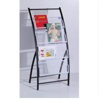 Wholesale Antique Wall Mounted Floor Metal Magazine Rack Newspaper Display Shelf DX-K133 from china suppliers