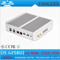 Wholesale Windows intel mini pc with Intel Core i5 4258U 2.4Ghz Mini PC Fanless Computer with 2 LAN from china suppliers