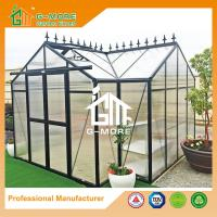Wholesale 381 X 377 X 250CM Black Color 8mm Thick Polycarbonate Aluminum Greenhouse from china suppliers