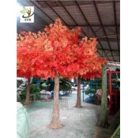 Buy cheap UVG decorative autumn artificial red maple tree for home garden decoration GRE046 from wholesalers