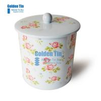 Quality Round Handle Gift Food Case for China Wholesalers ,metal biscuit Tin Box for sale