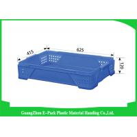 Wholesale Warehouse Large Plastic Storage Boxes , Space Saving Stackable Plastic Bins from china suppliers