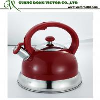 Wholesale 3L Stainless steel whistling Camille water kettle tea pot purple, yellow, orange,red, white, pink, grey, blue, green from china suppliers