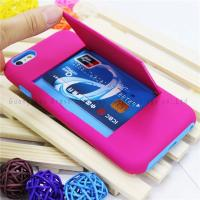 Buy cheap iphone case storage,card holders for iphone 6 plus ,PC+Silicone material,colors,anti-shock from wholesalers