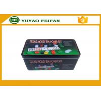 Wholesale 4g Plastic Poker Chips Sets Professional Poker Set Square Tin Box Packaging from china suppliers