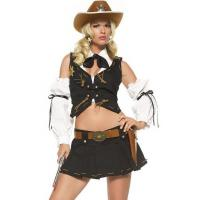 Wholesale Black White Country Sheriff Party Adult Costumes / Female Halloween Costumes from china suppliers