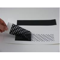 Wholesale Black PET Printable Security Labels In Fully Transfer Strong Adhesive from china suppliers