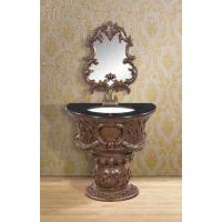Wholesale Customized Classical Single Basin Bathroom Cabinet With Mirror Marbe Countertop from china suppliers