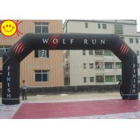 Wholesale Angle Custom Black inflatable entrance arch Permanent Banner For Events from china suppliers