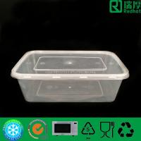 Quality Rectangular Microwaveable disposable plastic PP food container 750ml for sale