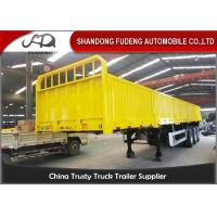 Wholesale 2 / 3 Axles 40ft Flatbed Side Wall Semi Trailer Fence Height 600mm - 1800mm from china suppliers