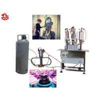 Wholesale High Capacity Aerosol Spray Paint Can Filling Machine Semi Automatic from china suppliers