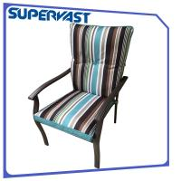 Wholesale Striking Strap Cushion Steel Frame Outdoor Patio Chairs Garden Patio Dining Chair from china suppliers