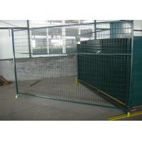 """Wholesale 6'X9.6' temporary construction fence frame 1.6""""/40mm brace1.2""""/30mm and 16ga  akzolnobel powder coated ral 6004 from china suppliers"""