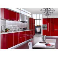 Quality Red Solid Color Pvc Decorative Foil High Glossy For Wrapping Interior Furniture for sale