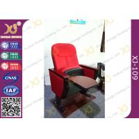 Wholesale Church Install MDF Writing Pad Cocked PP Outerback Lecture Hall Seating With Red from china suppliers