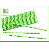 Wholesale Eco - Friendly Bamboo Paper Straws , Birch Wood Design Green Decorative Paper Straws from china suppliers